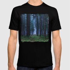 Green Magic Forest Mens Fitted Tee Black MEDIUM