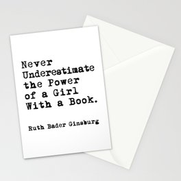 RBG quote, Never Underestimate Stationery Cards