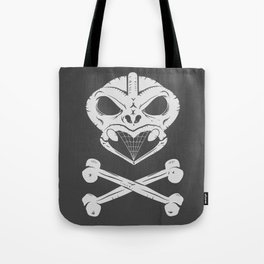 Skull and crossbones tiki Tote Bag