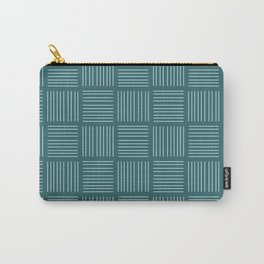 Spirit Water Stripe - Blue Carry-All Pouch