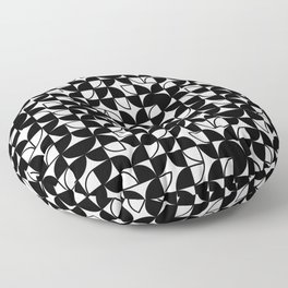 Circle Pattern (Black and White) Floor Pillow