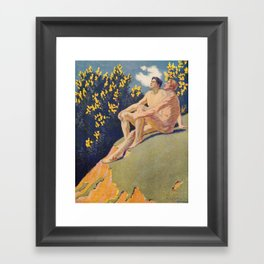 """I will sing the song of companionship"" (Margaret C. Cook, Leaves of Grass, 1913) Framed Art Print"
