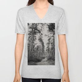 the path through the forest ... Unisex V-Neck