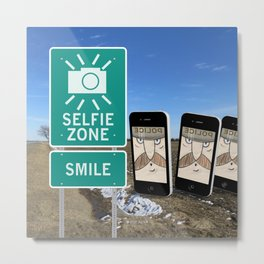 Selfie Zone - Smile Metal Print