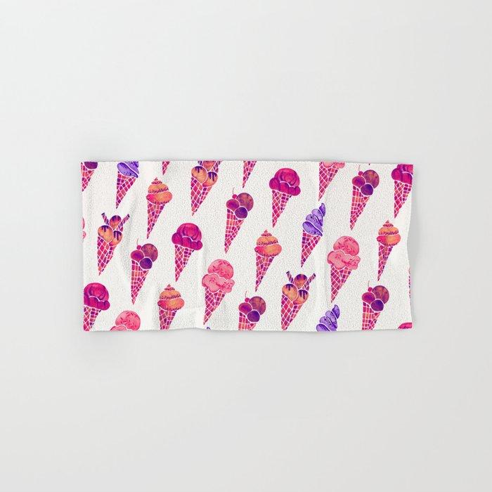 Ice Cream Cones – Fuchsia Palette Hand & Bath Towel