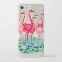 yetiland iPhone & iPod Cases featuring Flamingos by Andrea Lauren  by Andrea Lauren Design