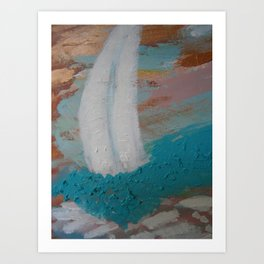 "Sailboats, ""Rough Waters"" Art Print"