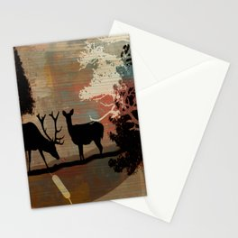 Woodland Abstract Stationery Cards