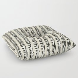 Mud Cloth - Black and White Arrowheads Floor Pillow