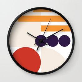 MidMod Shapes Orange Wall Clock