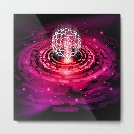 Cosmic Crown Chakra - v2.0 Metal Print