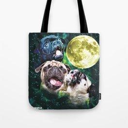 Howl at the Moon Pug Tote Bag