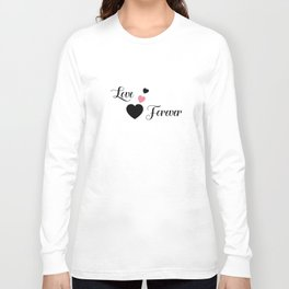 Love Forever Hearts Long Sleeve T-shirt