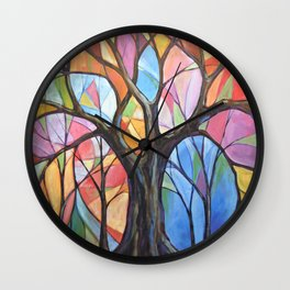 Abstract Art Landscape Original Painting ... Colors of the Wind Wall Clock