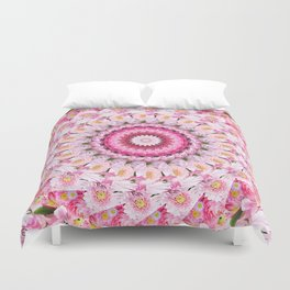 Bloom Bright Flower Photography Flat Lay Duvet Cover