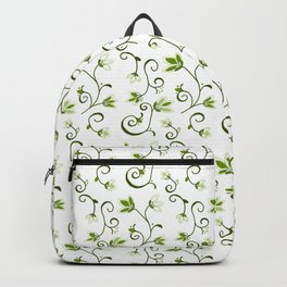 Ditzy Green Floral Backpack