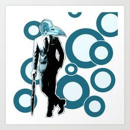 Gentlemen, We got a dead one here.. blue version Art Print