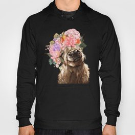 Highland Cow with Flower Crown Hoody
