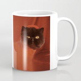 Muad'Dib Cat Portrait in Red Coffee Mug