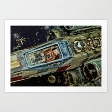 Movie Scene Art Print