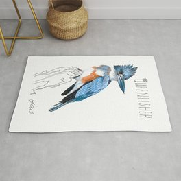 Queenfisher (Belted Kingfisher) Rug