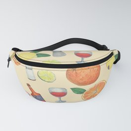 cocktail recipe pattern _ zombie Fanny Pack