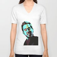 mike wrobel V-neck T-shirts featuring Mike Shinoda by Lyre Aloise