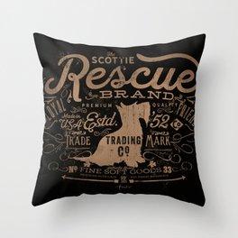 SCOTTIE RESCUE BRAND TRADING CO Throw Pillow