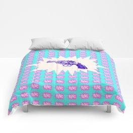 Purple Gun Comforters
