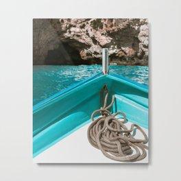 Caves by Boat Metal Print