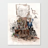 larry david Canvas Prints featuring LARRY DAVID by Kyle Norris