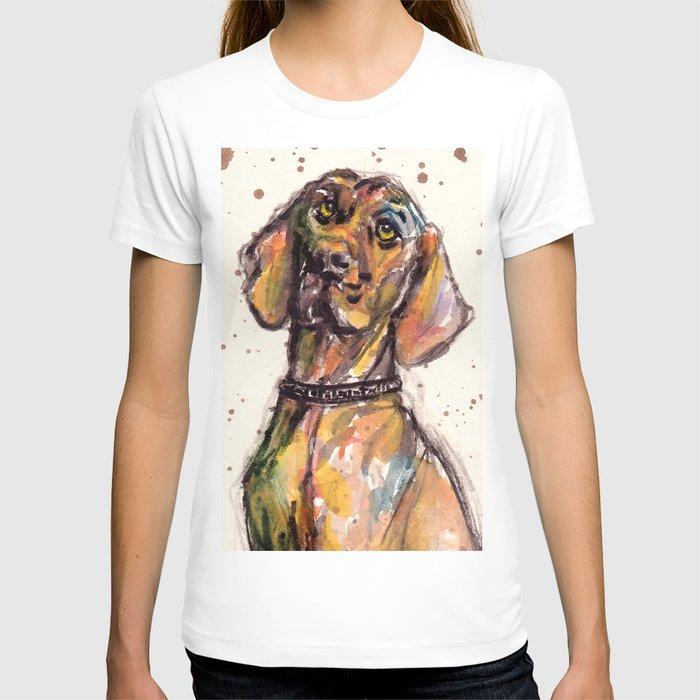 Hungarian Vizsla Dog Closeup T-shirt