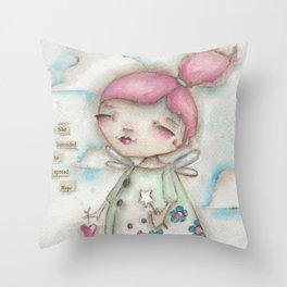 A Hope-Spreading Fairy Throw Pillow