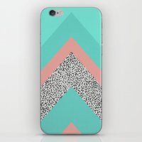 90s iPhone & iPod Skins featuring 90s Chevron by Zeke Tucker