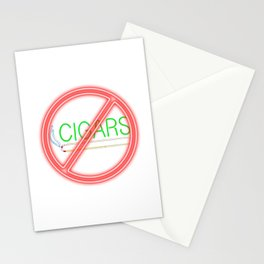 No cigars Stationery Cards