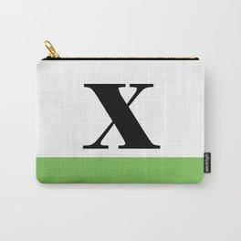 Monogram Letter X (color block) Carry-All Pouch