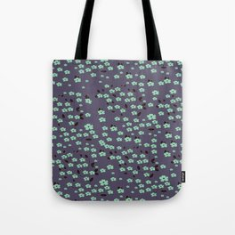 Petite Floral Turquoise Collection Tote Bag