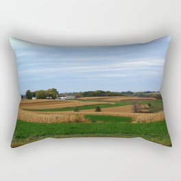 Autumn farm in Wisconsin's driftless region Rectangular Pillow