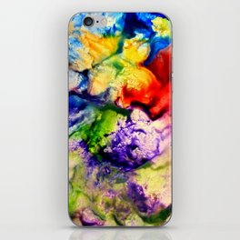 Abstract Encaustic Colorful Flowers, iPhone Skin