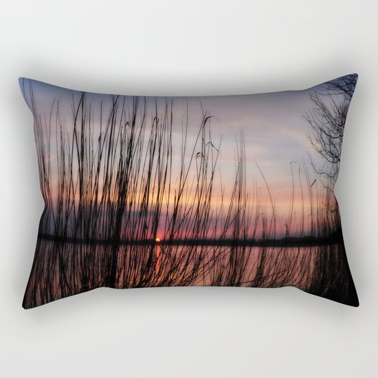 sunset nature Rectangular Pillow