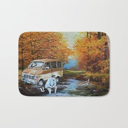 Living in a Van Down by the River Bath Mat