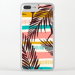 Tribal Tropical Leaf Pattern Clear iPhone Case