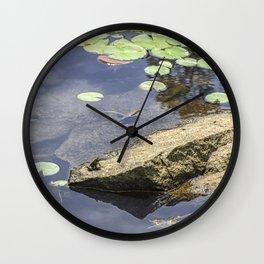 Froggy dreams Wall Clock