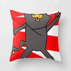 Ninja Kitty Throw Pillow