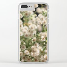 Closeup Fluffy Seed Heads Clear iPhone Case