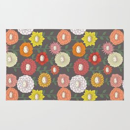 Talking Garden (gray) Rug