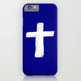 Christian Cross Chalk version iPhone Case