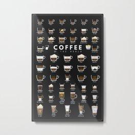 Coffee Types Chart Metal Print