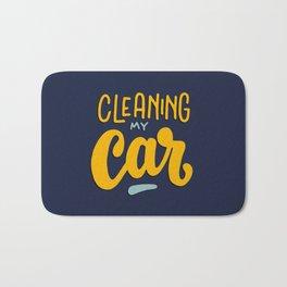 Cleaning my car Bath Mat