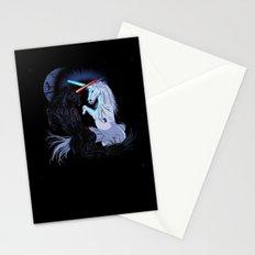 Starwars with unicorns (black) Stationery Cards